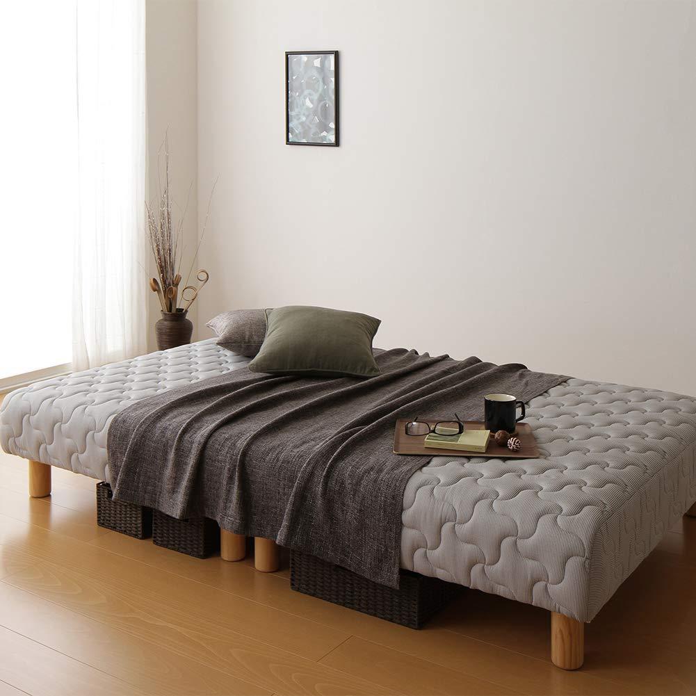ポケットコイル 脚付きマットレスベッド ショート丈