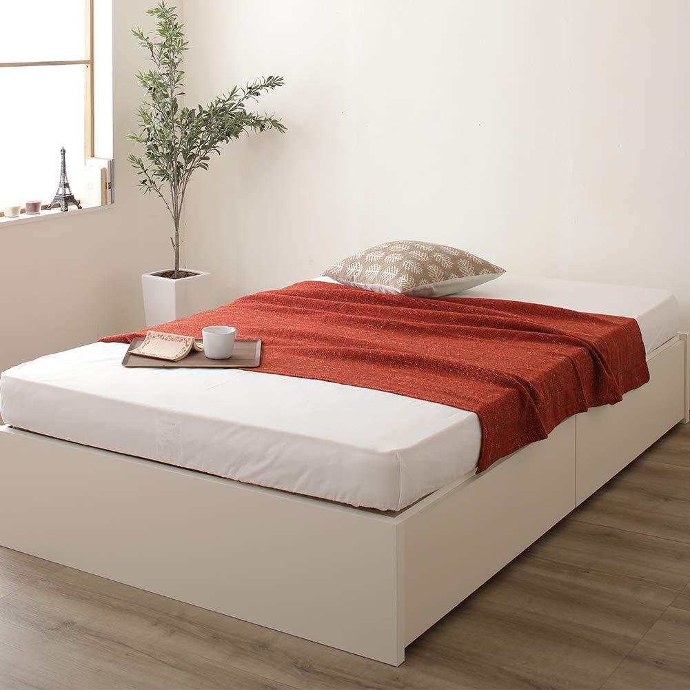 ヘッドレス 国産 収納付きベッド