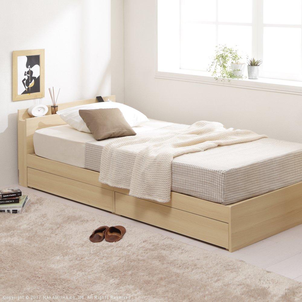敷布団でも使える収納ベッド 薄型ヘッドボード