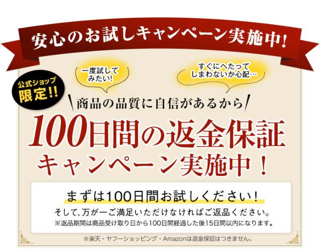 雲のやすらぎ・100日間返金保証キャンペーン