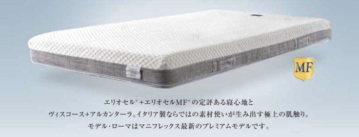 マニフレックス・モデルローマ・バナー