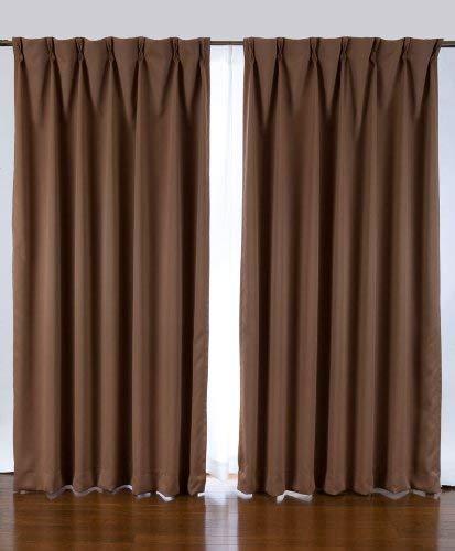 1級遮光カーテン 2枚入り ブラウン巾100X丈110